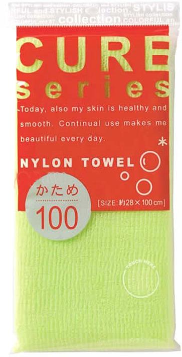 Мочалка Ohe Cure, жесткая, зеленый, длина 100 см мочалка для тела жесткая зеленая cure nylon towel regular green