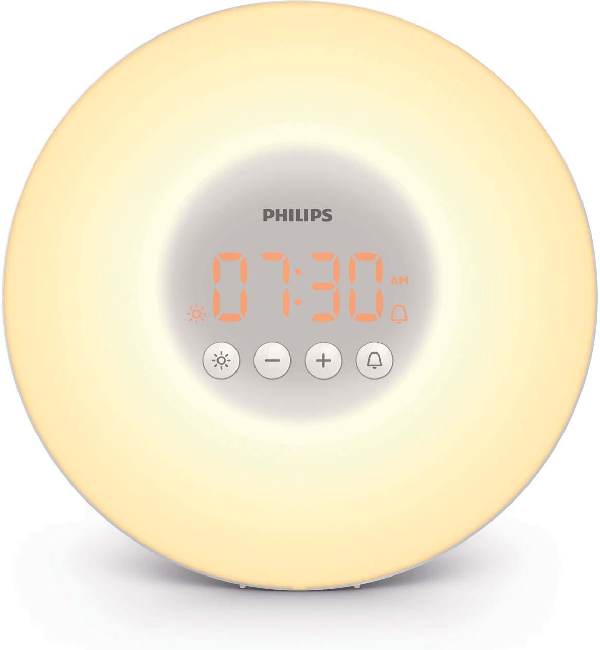 Световой будильник Philips Wake-up Light HF3500/70, белый, серый philips aj3115 12 радио будильник