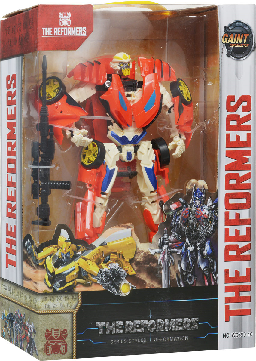"""Робот-трансформер """"Автобот"""", 3604525, красный"""