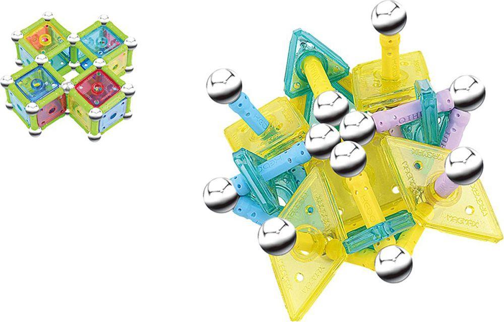 Конструктор магнитный Магический шар, 1173771, 115 деталей1173771Конструктор — одна из лучших развивающих игрушек для детей. Ребенок, словно творец, создает из разных элементов невиданных животных, строит небывалые замки и города, рушит и изменят их к лучшему! Чем больше деталей в конструкторе, тем выше полет фантазии!