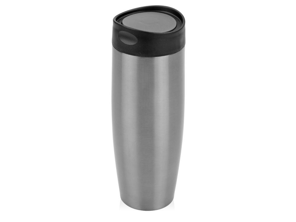 Термокружка Oasis Тамблер, 821220, серебристый, черный, 450 мл