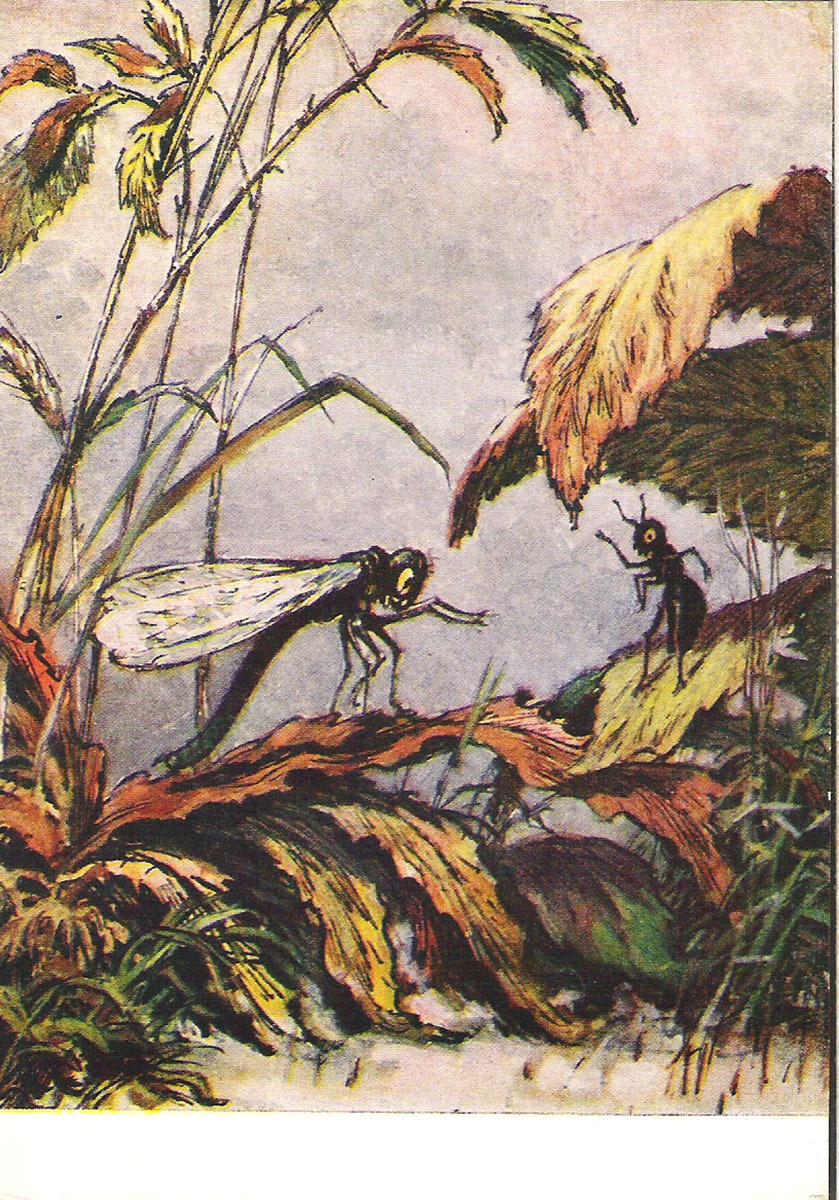 все картинки к басням крылова фото стрекоза и муравей один поклонник пластической