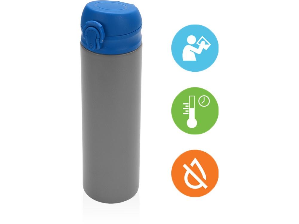 Термокружка Oasis «Хот», вакуумная термокружка , 840102, синий, серый