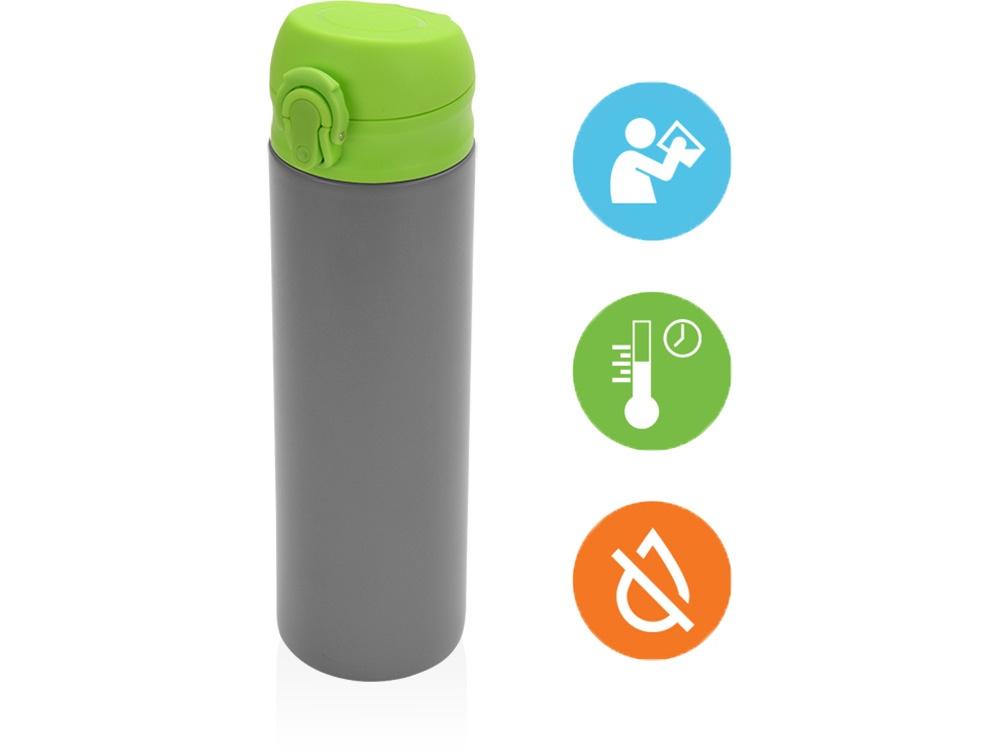 Термокружка Oasis «Хот», вакуумная термокружка, 840103, зеленый, серый