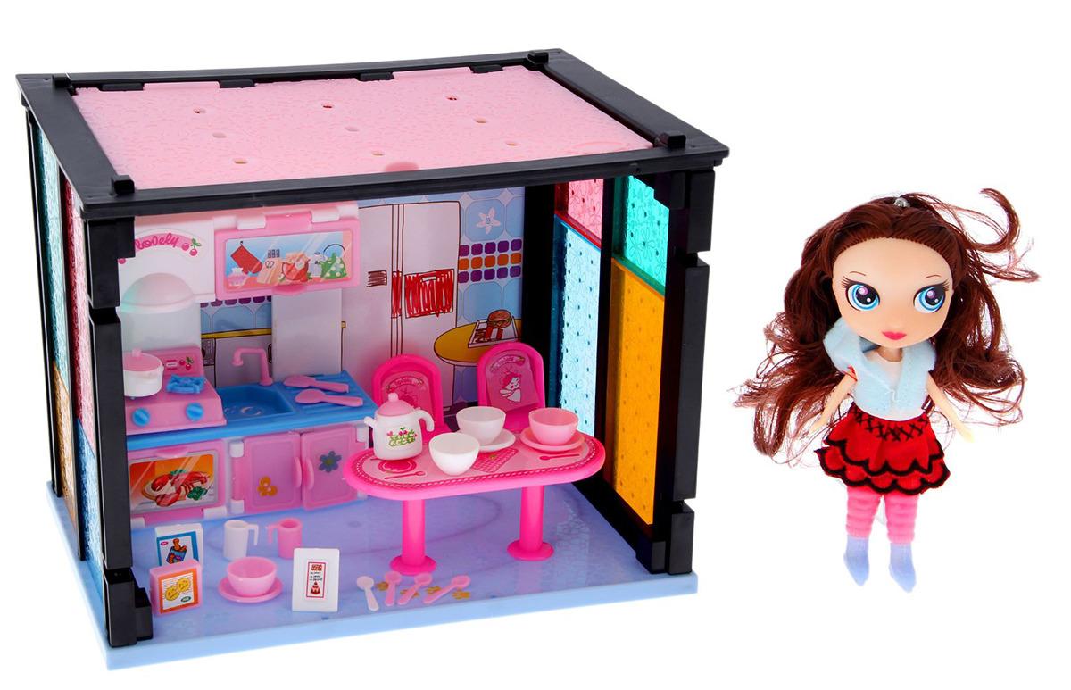 """Дом для кукол """"Кухня"""", 1999151, с куклой и аксессуарами"""