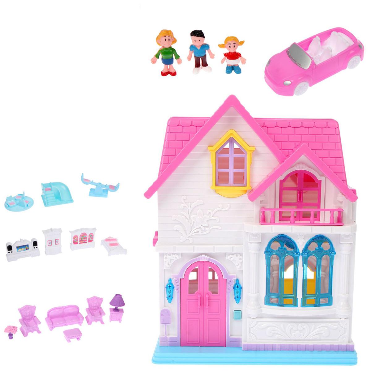 """Дом для кукол """"Уютный дом"""", 2227293, складной, с мебелью и аксессуарами"""