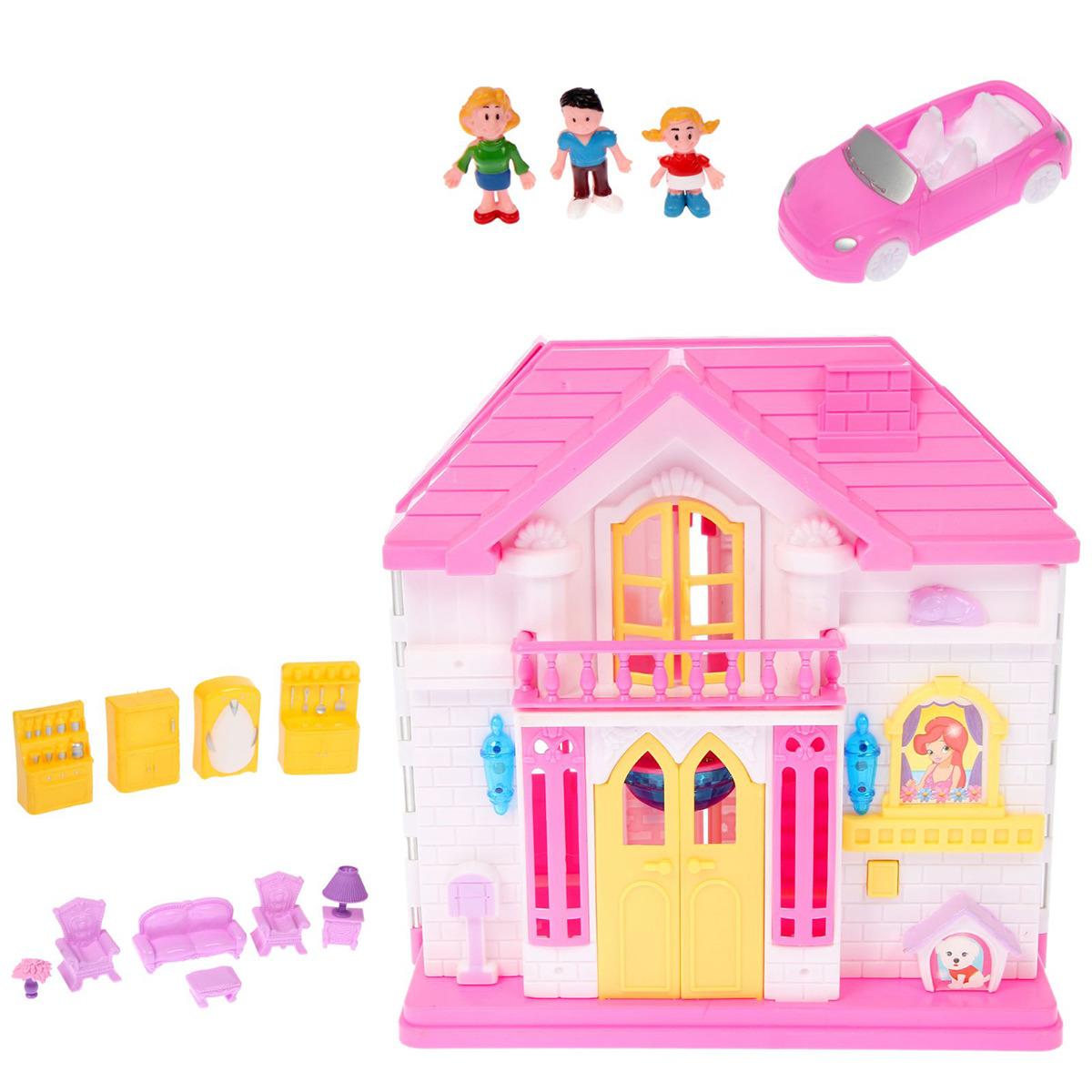 """Дом для кукол """"Семья"""", 2227294, складной, с мебелью и аксессуарами"""
