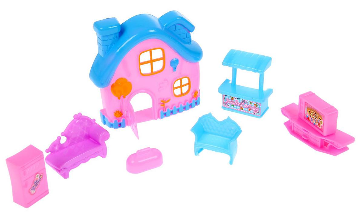 Дом для кукол SL-00332D Мой домик, 2366760, с аксессуарами дом для кукол мой дом алина 4108