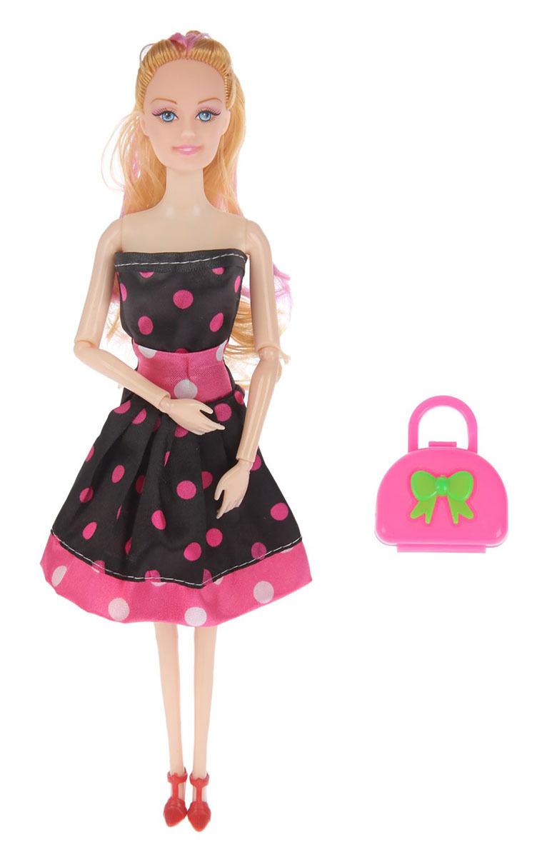 """Кукла модель шарнирная №SL-00276C """"Софи Fashion Look"""", 2367169, в платье в горошек, с аксессуарами, 28.5 см"""