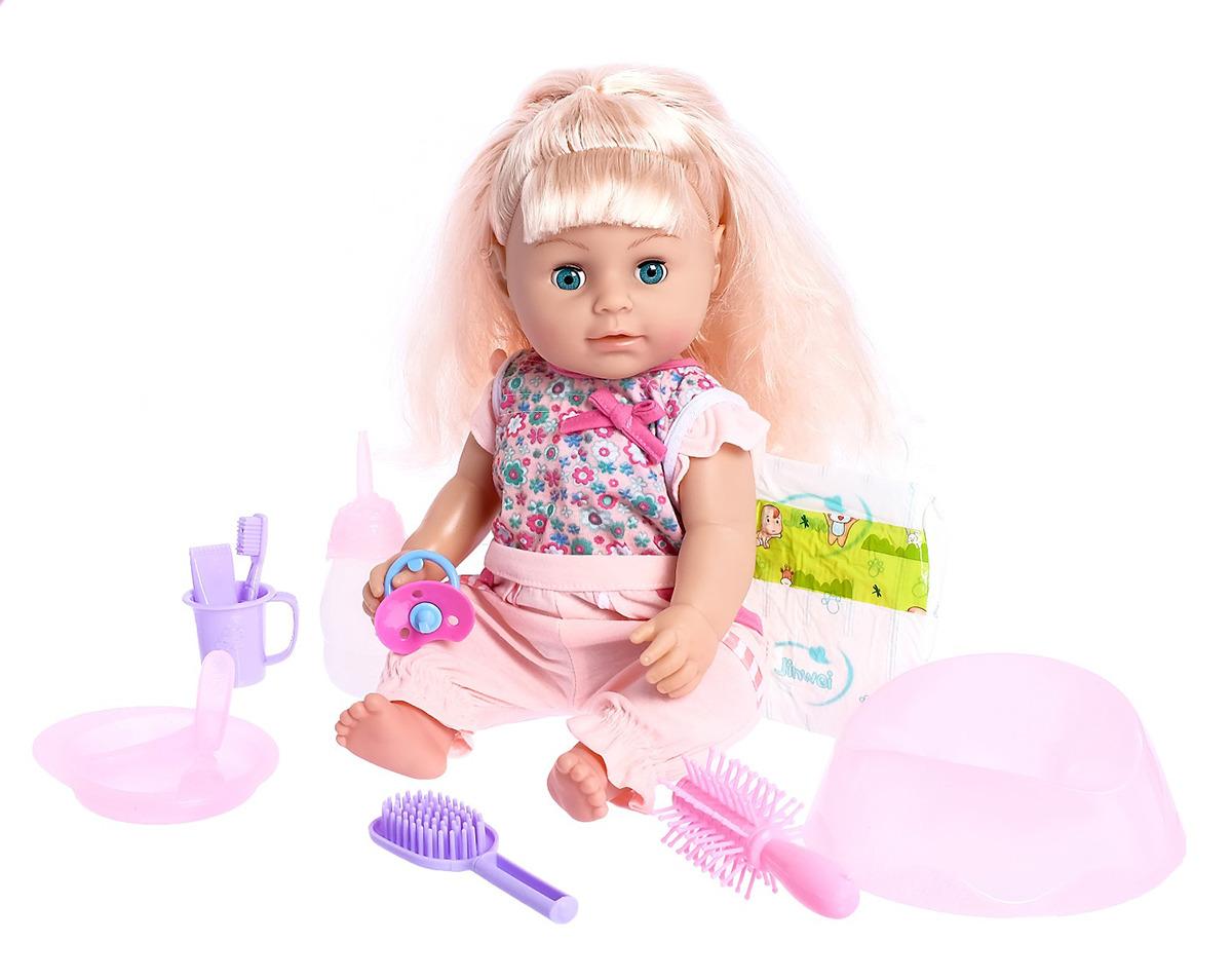 Пупс Милая сестренка-3, 26781072678107Удивительно реалистичная и красивая игрушка очень обрадует малыша. С такой симпатичной крохой можно весело проводить время целый день!
