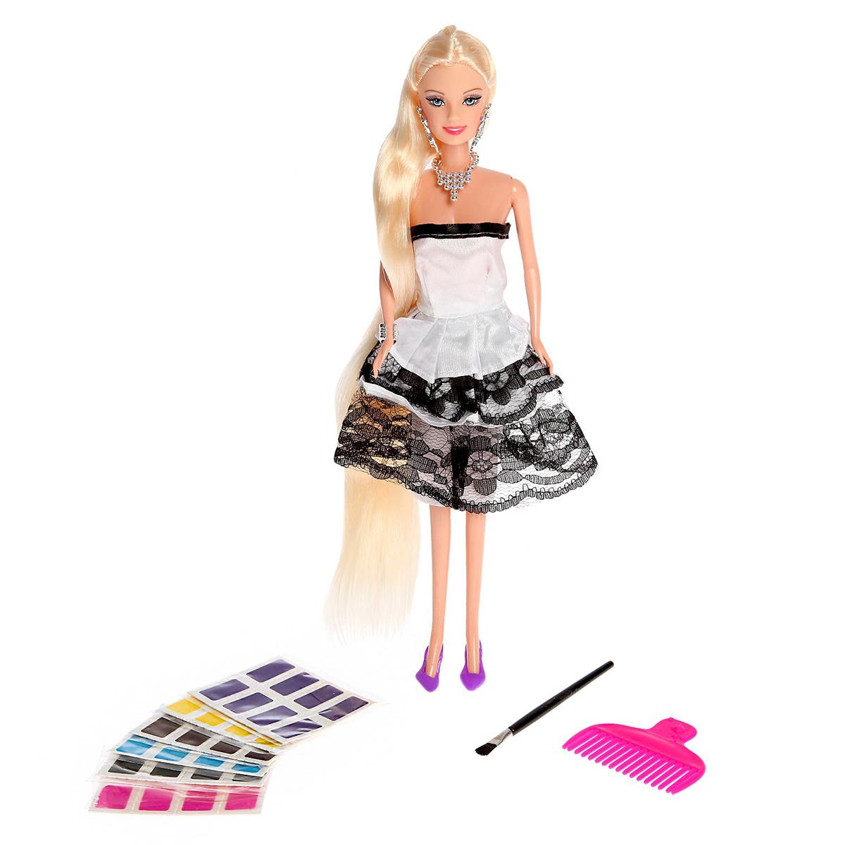 """Кукла модель """"Ася. Создаем прическу"""", 2926709, с аксессуарами, 29 см"""