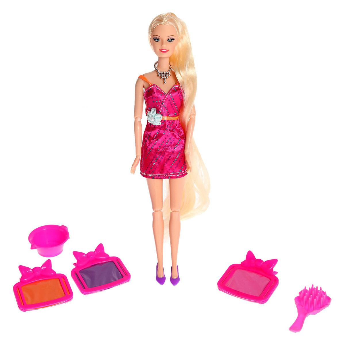 """Кукла модель """"Оля. Создаем прическу"""", 2926712, с аксессуарами, 29 см"""