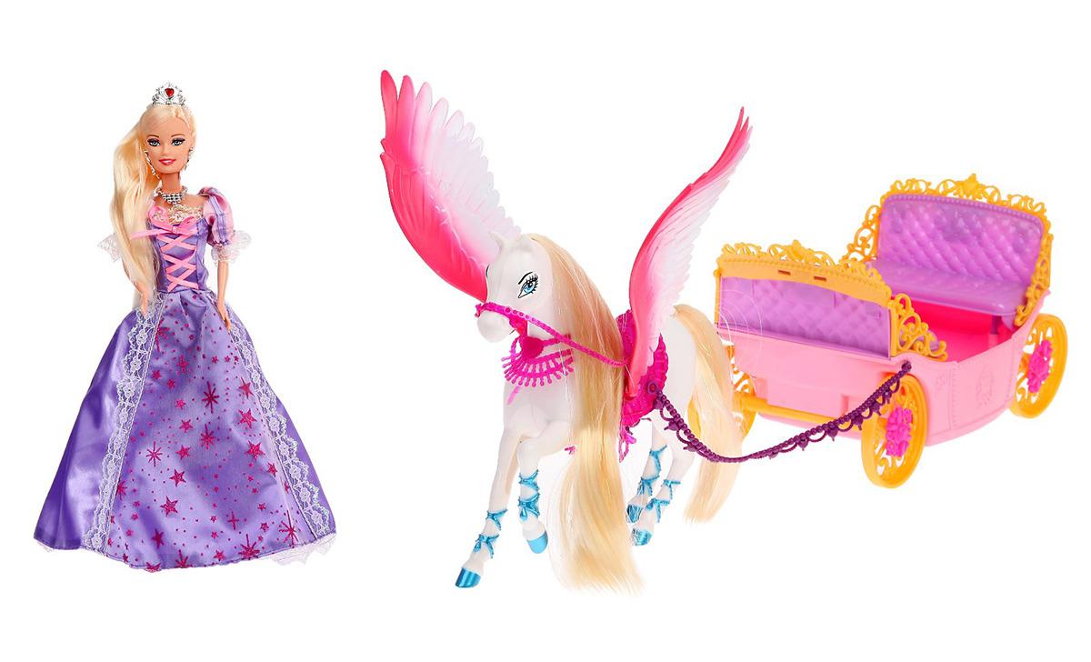 """Игровой набор с куклой """"Принцесса на прогулке"""", 2926718, с аксессуарами"""