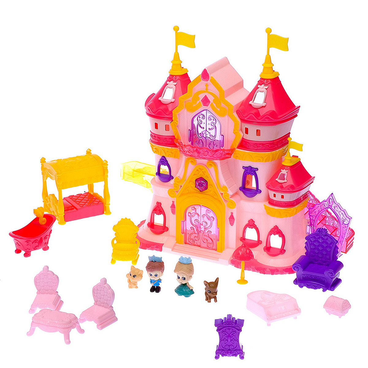 """Замок для кукол """"Шикарный дворец"""", 2926885, с аксессуарами"""