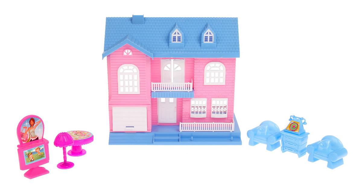"""Дом для кукол """"Уют"""", 2989663, с аксессуарами"""
