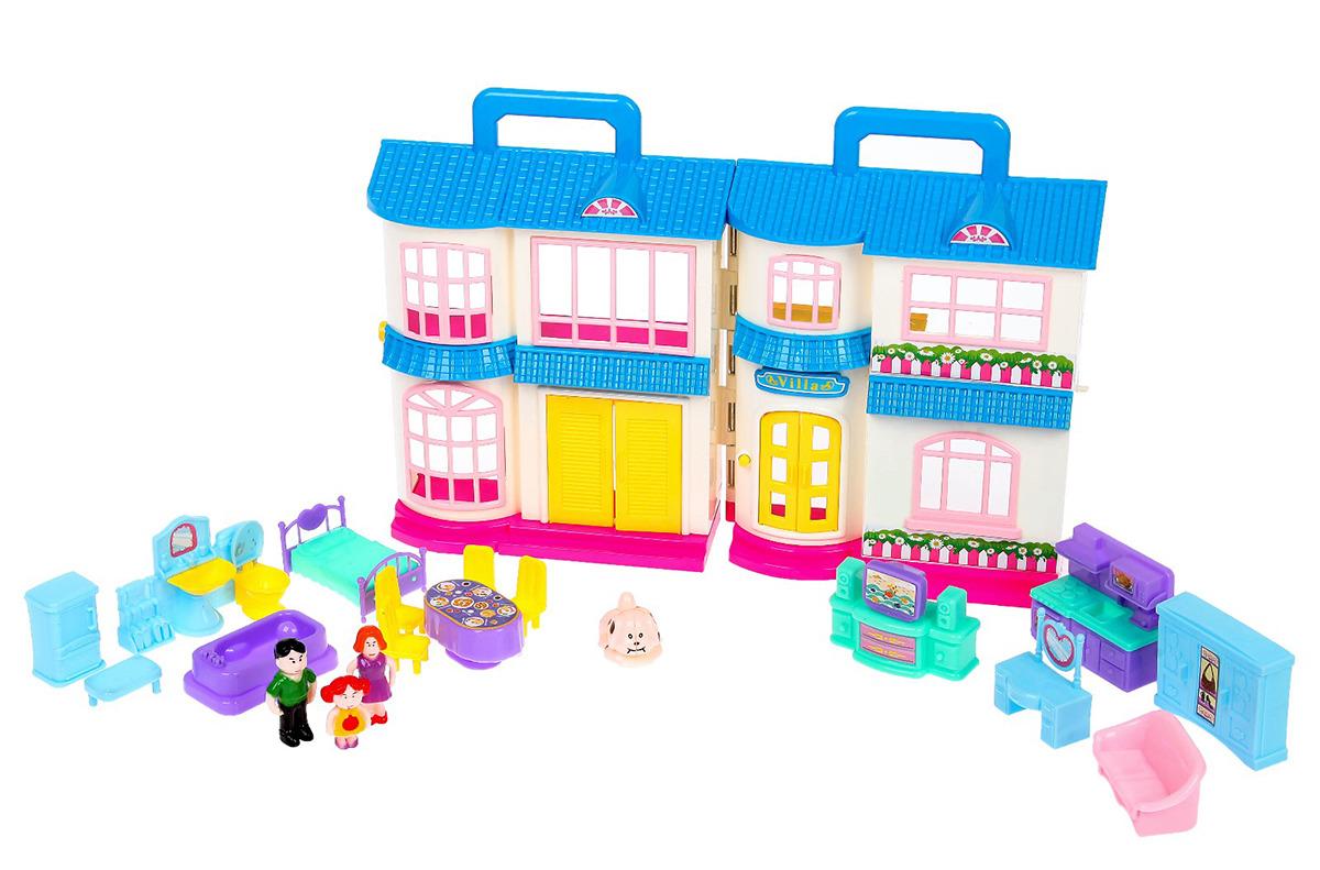 """Дом для кукол """"Семья"""", 2989668, с мебелью и аксессуарами"""