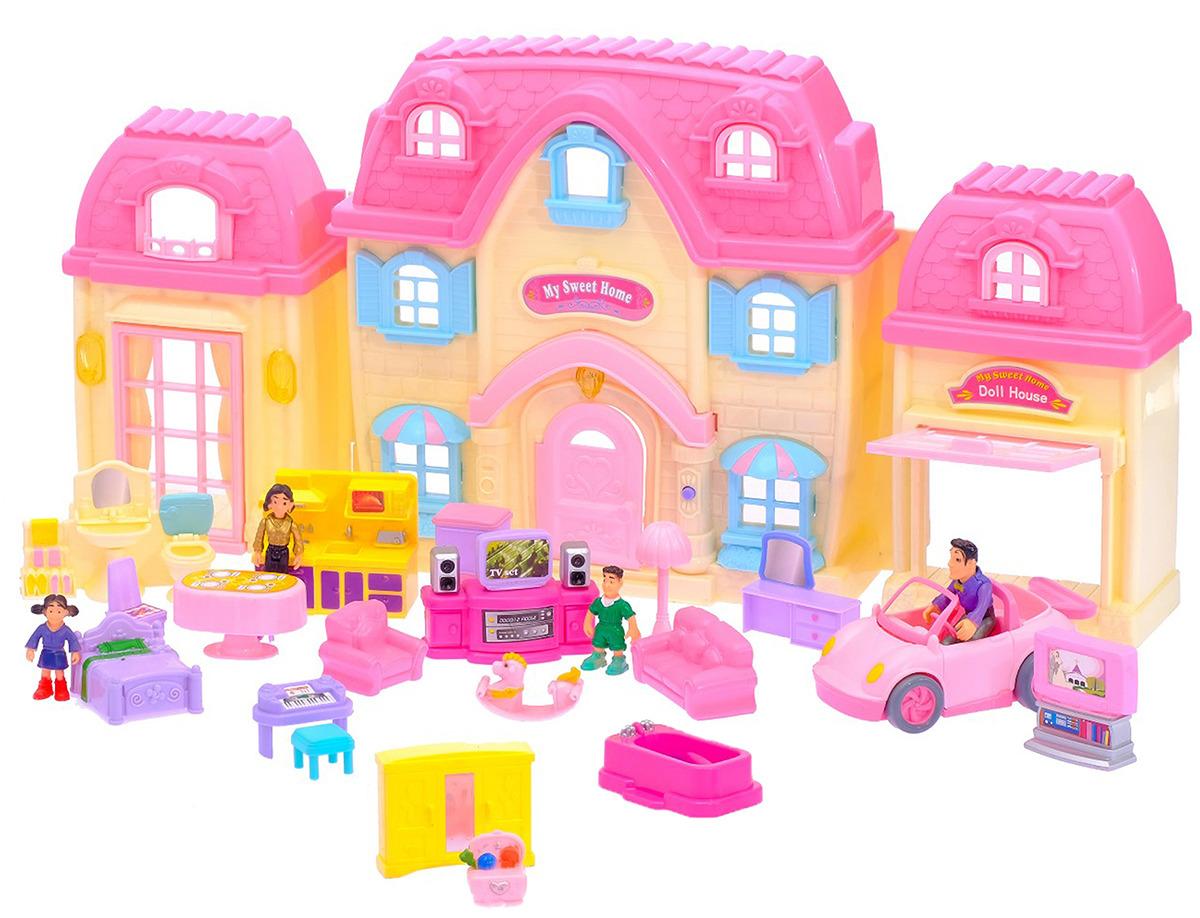 """Дом для кукол """"Большая семья кукол"""", 3022208, с мебелью"""