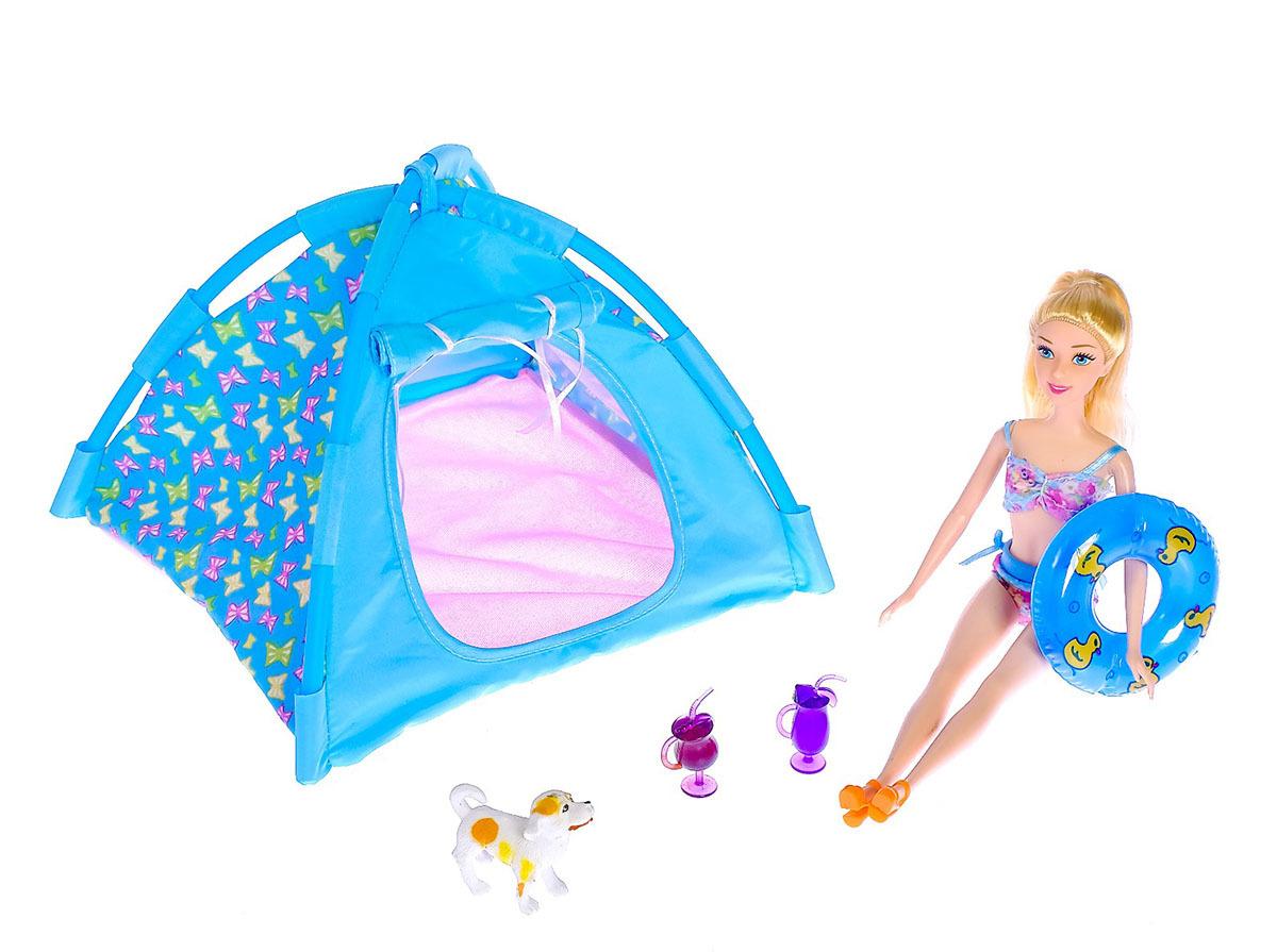 """Кукла модель """"Оля"""", 3102417, с пляжными аксессуарами, 30 см"""
