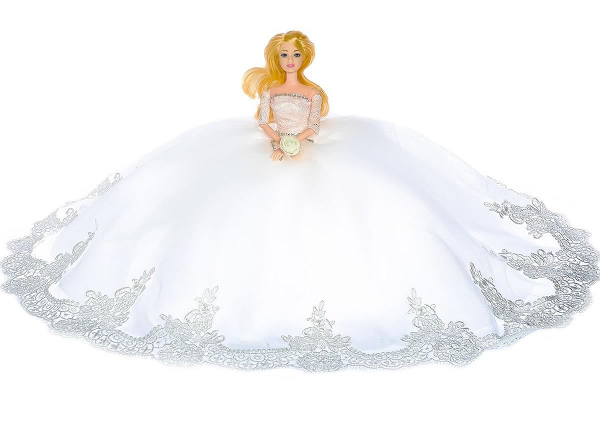 """Кукла модель """"Милена"""", 3303138, в свадебном платье, 30 см"""