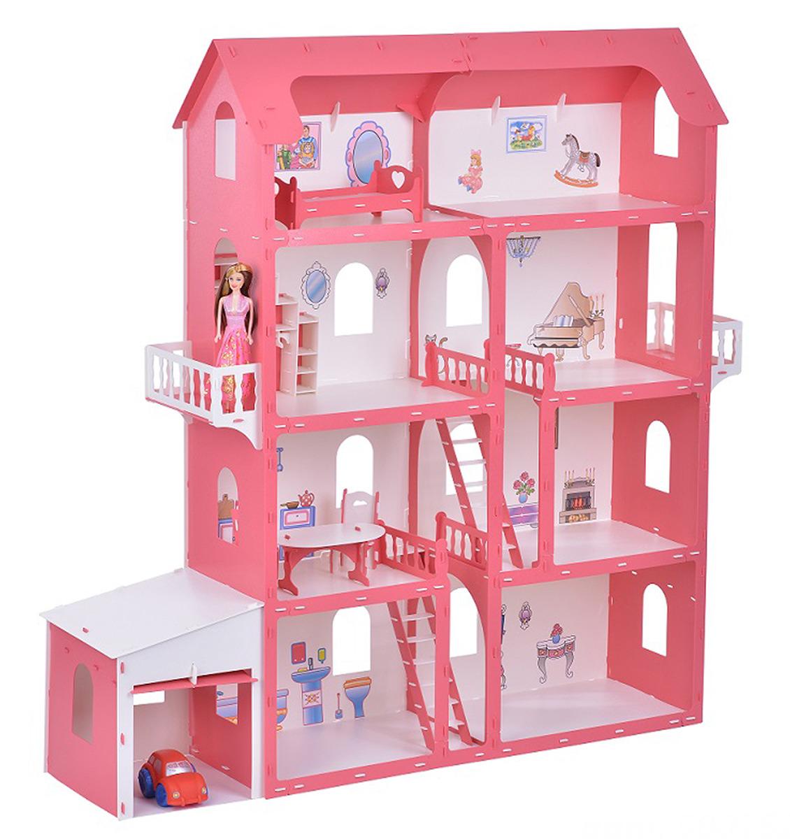 """Дом для кукол Krasatoys """"Коттедж Александра"""", 3494260, с мебелью"""