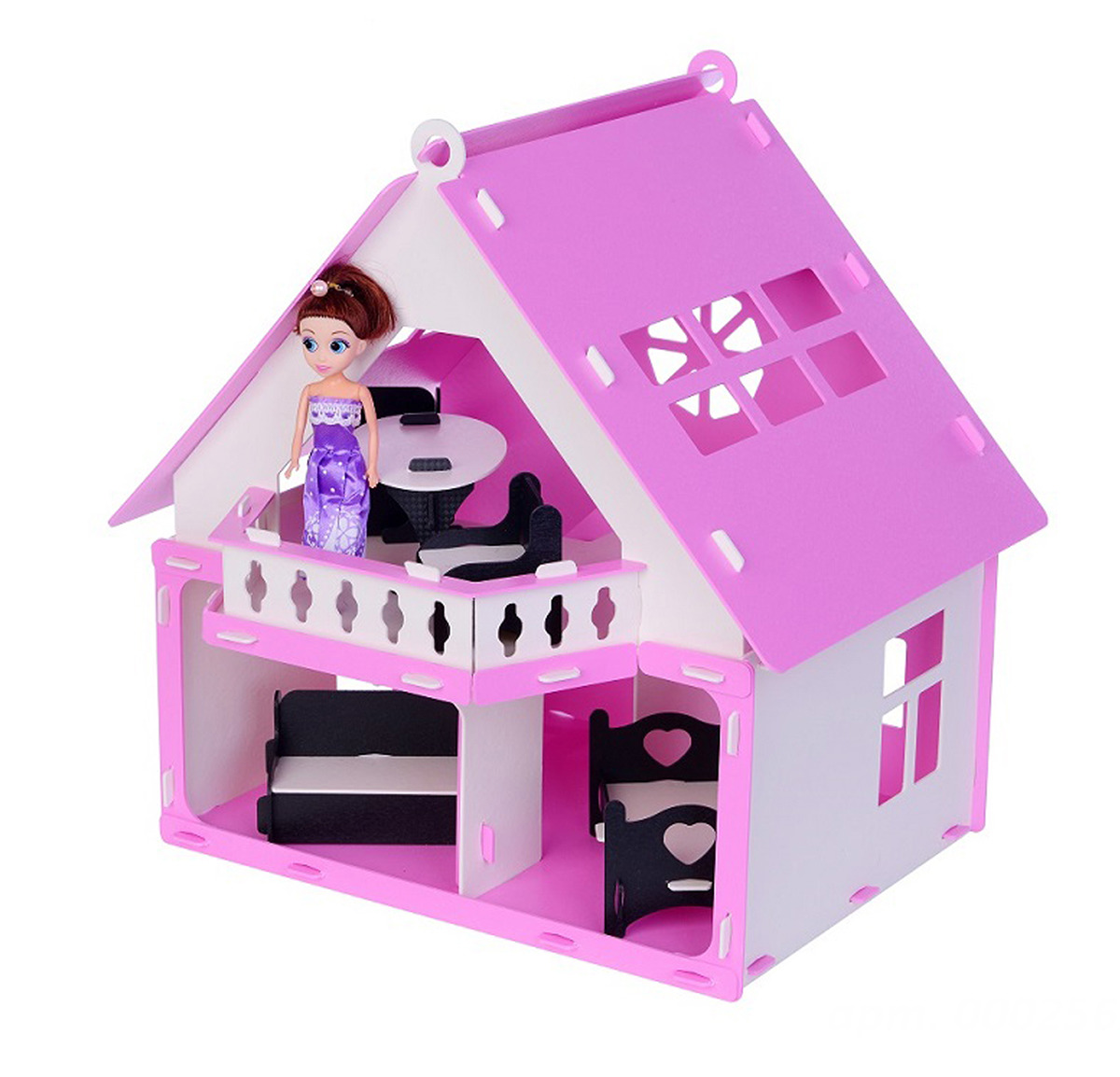 Дом для кукол Krasatoys Дачный дом Варенька, 3494264, с мебелью replace and choose домик для кукол летний дом вероника бело с мебелью