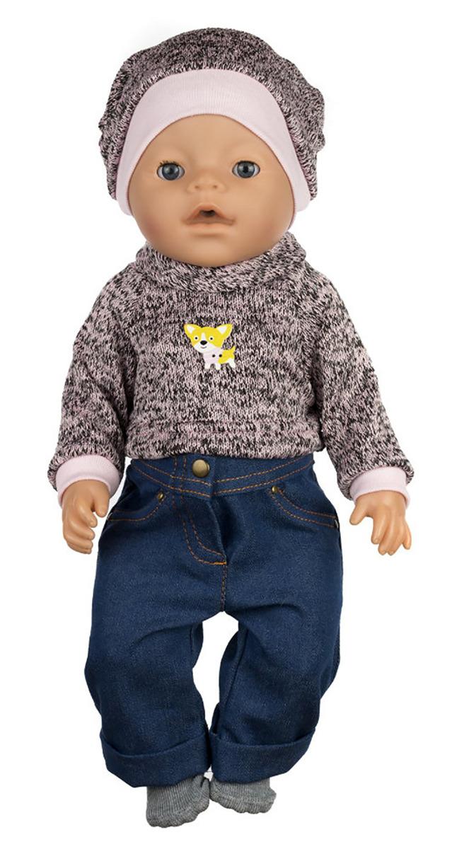 "Одежда для кукол КуклаПупс ""Свитер, джинсы, носочки, шапка"", 3666430"