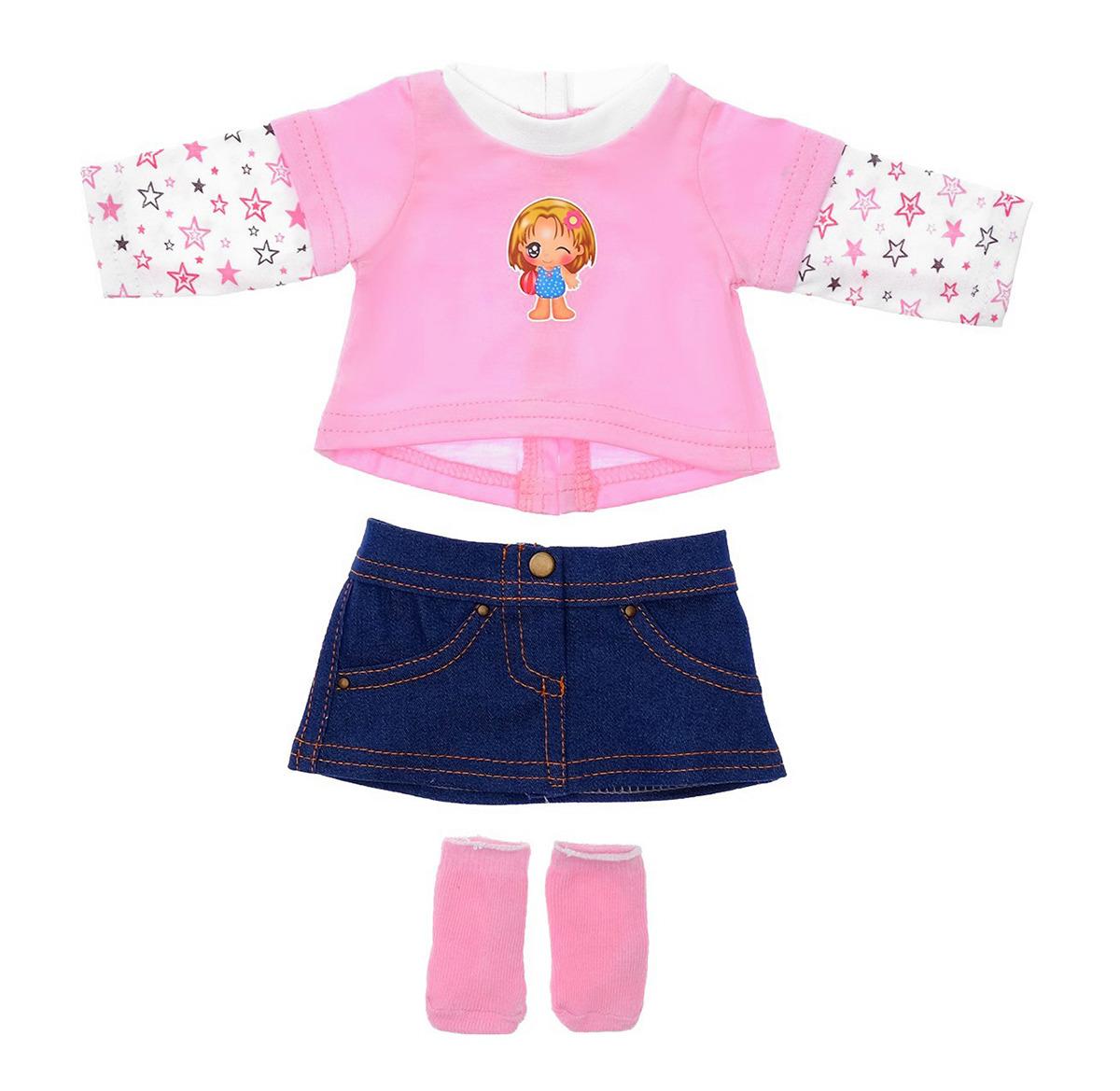 Одежда для кукол КуклаПупс Комплект: юбка, носочки, джемпер, 36664393666439Игры с куклами открывают огромный простор для фантазии. Сюжеты можно придумывать самые разные: от рисковых приключений до волшебных балов. Но ничего не получится, если на модели будет неподходящий наряд!