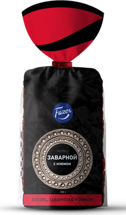 Хлеб Fazer Хлебец заварной с изюмом, 350 г