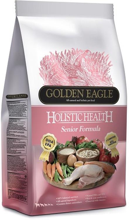 Корм сухой Golden Eagle Holistic Dog Senior, для пожилых собак, на основе курицы, 12 кг golden eagle holistic health power formula для активных собак 12кг 233834