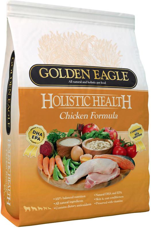 Корм сухой Golden Eagle Holistic Dog Adult Chicken, для взрослых собак, на основе курицы, 6 кг golden eagle holistic health power formula для активных собак 12кг 233834