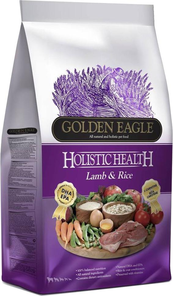 Корм сухой Golden Eagle Holistic Dog Adult Lamb&Rice, для взрослых собак, на основе ягненка и риса, 6 кг golden eagle holistic health power formula для активных собак 12кг 233834