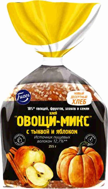 Хлеб Fazer Хлебцы Овощи-Микс Тыква и яблоко, 255 г