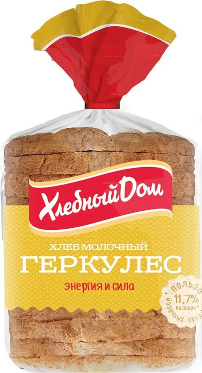 Хлеб Хлебный Дом Геркулес молочный, 250 г пассим геркулес 12 месяцев 750 г