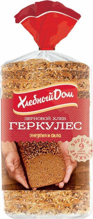Хлеб Хлебный Дом Геркулес зерновой, 500 г пассим геркулес 12 месяцев 750 г