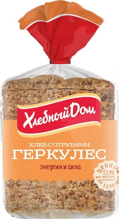 Хлеб Хлебный Дом Геркулес с отрубями, 250 г пассим геркулес 12 месяцев 750 г