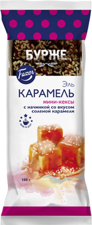Кекс Fazer Эль Карамель со вкусом соленой карамели, 100 г