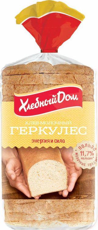 Хлеб Хлебный Дом Геркулес молочный, 500 г пассим геркулес 12 месяцев 750 г