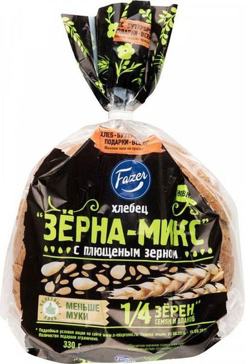 Хлеб Fazer Хлебец Зерна-Микс с плющеным зерном, 330 г