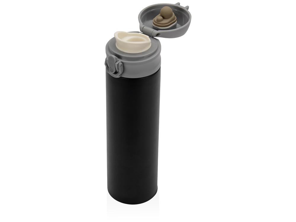 Термокружка Oasis «Хот», вакуумная термокружка, черный, серый