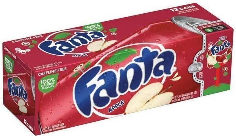 """Газированный напиток Fanta """"Яблоко"""", 12 шт по 355 мл"""