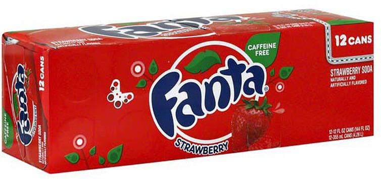 """Газированный напиток Fanta """"Клубника"""", 12 шт по 355 мл"""