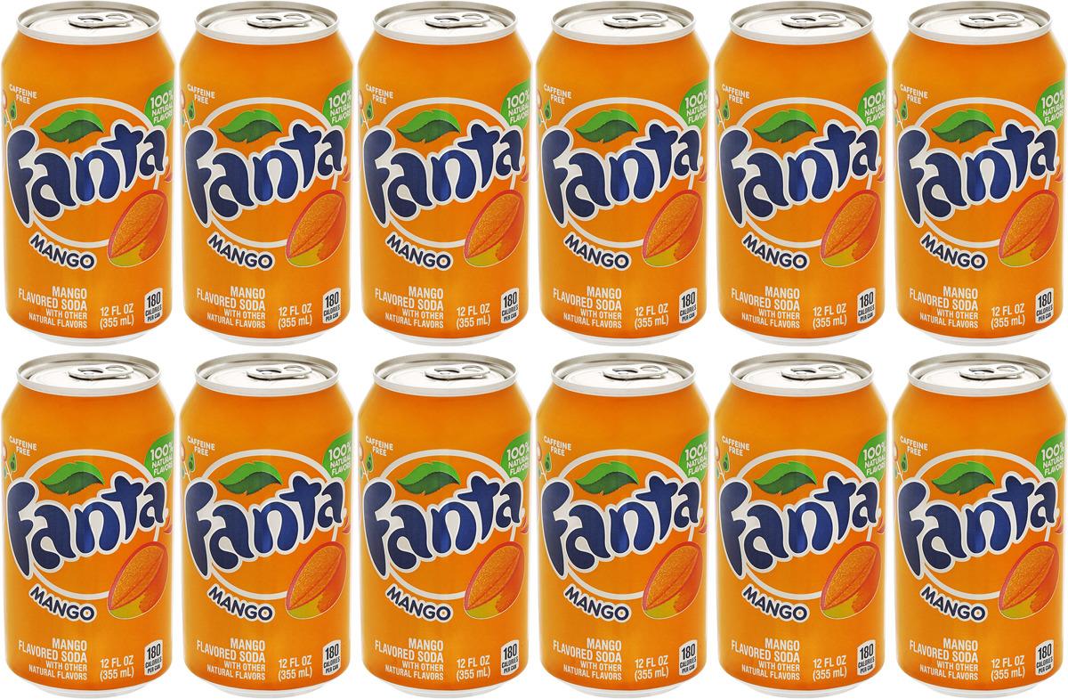 """Газированный напиток Fanta """"Манго"""", 12 шт по 355 мл"""