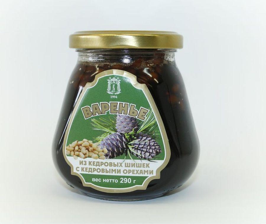Варенье Косьминский гостинец, из кедровых шишек с кедровыми орехами, 290 г