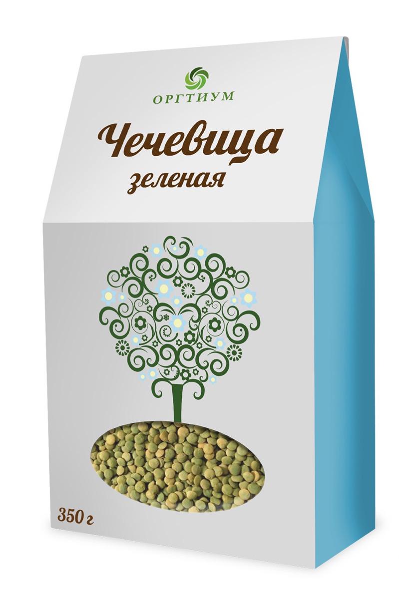 Чечевица Оргтиум, зеленая, экологическая, 350 г