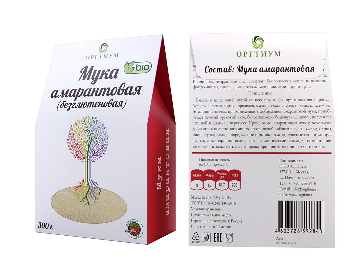 Мука амарантовая Оргтиум, 300 г