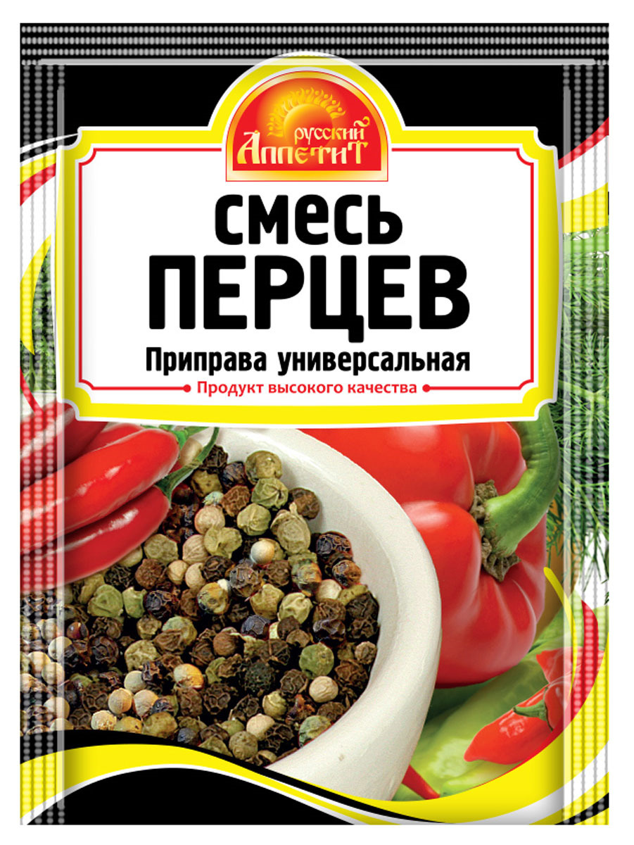 Приправа Русский аппетит Смесь перцев, 15 г just greece приправа смесь эгейская 150 г