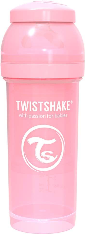 Бутылочка для кормления Twistshake Pastel антиколиковая, 78255, розовый, 260 мл
