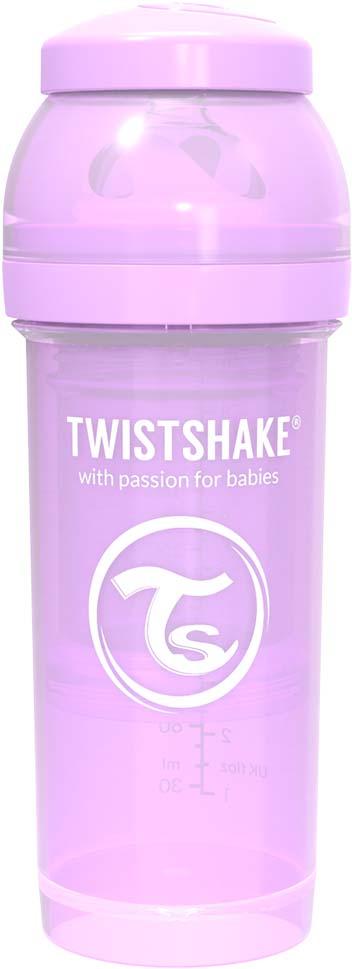 Бутылочка для кормления Twistshake Pastel антиколиковая, 78258, фиолетовый, 260 мл