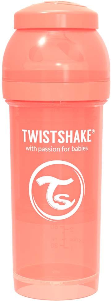 Бутылочка для кормления Twistshake Pastel антиколиковая, 78314, персиковый, 260 мл