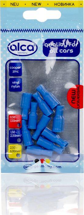 Наконечник круглый Alca, 641550, с изоляцией, 5 мм, синий, 10 шт лента изоляционная alca 5 м 6 шт